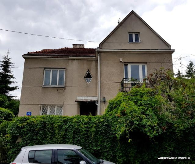 Warszawa Warsaw Mokotów ulice Mokotowa willa architektura warszawskie ulice przedwojenne wille
