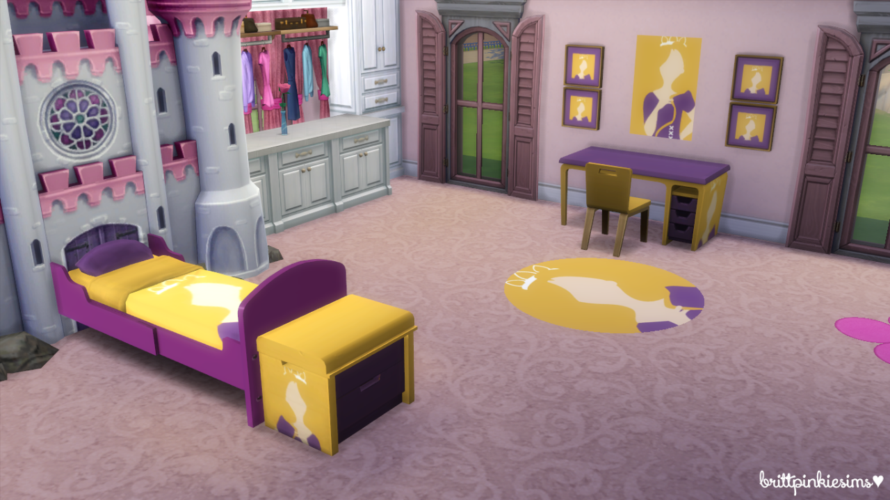 My Sims 4 Blog Disney Princess Bedroom Set By BrittpinkieSims