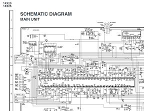 Skema TV SHARP schematic main board 14X20 - 14X25 (GA-1)