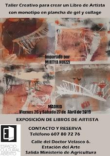 Invitación a participar en Taller Creativo de Mirtya Huizzi.