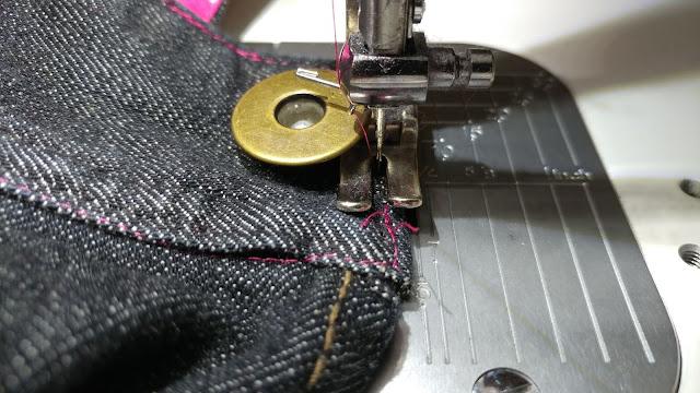 Top stitching on denim on a Juki TL-2010Q