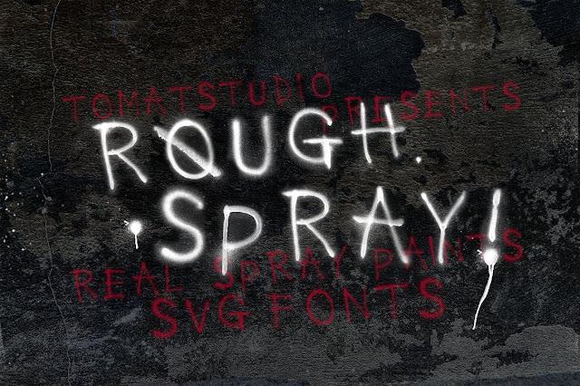 Шрифт Rough Spray