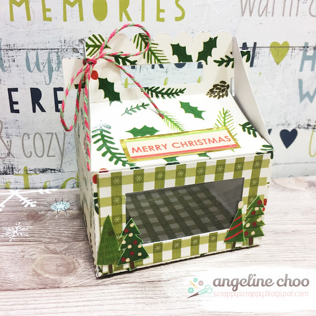 ScrappyScrappy: Holiday Gable Box with The Cutting Cafe #scrappyscrappy #thecuttingcafe #christmas #gablebox #giftbox #holiday #dcwv #trendytwine