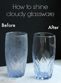 Restore The Shine to Cloudy Glassware