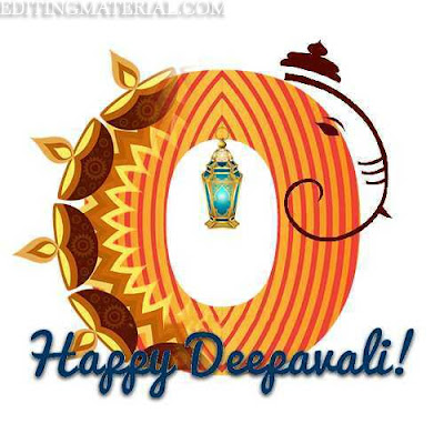 Happy diwali O name image