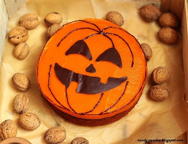 Fasolowe ciasto dyniowe z odżywką białkową na Halloween (bez glutenu, cukru białego)