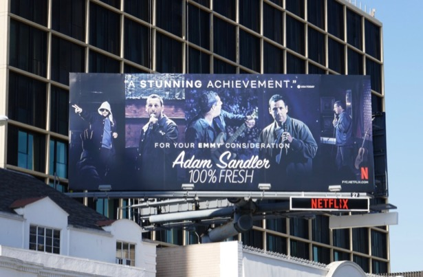 Adam Sandler 100% Fresh Emmy FYC billboard