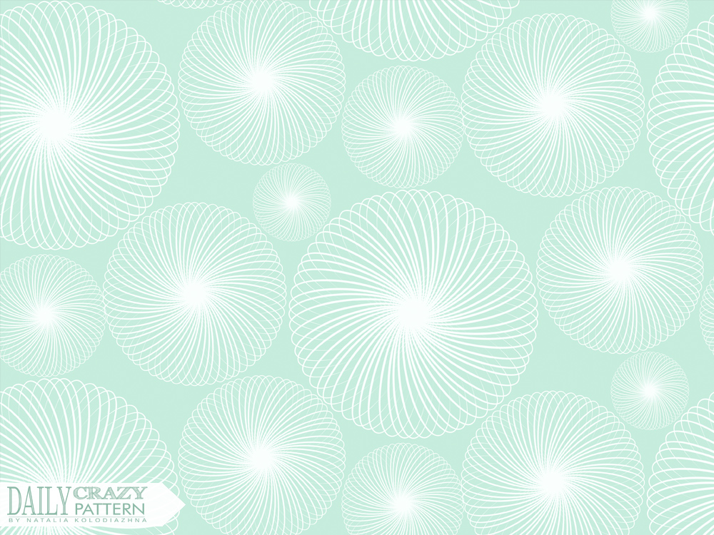 Mint delicate pattern