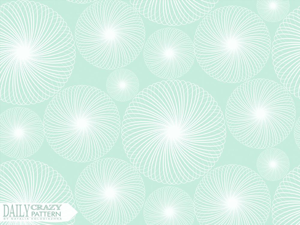 Mint delicate pattern