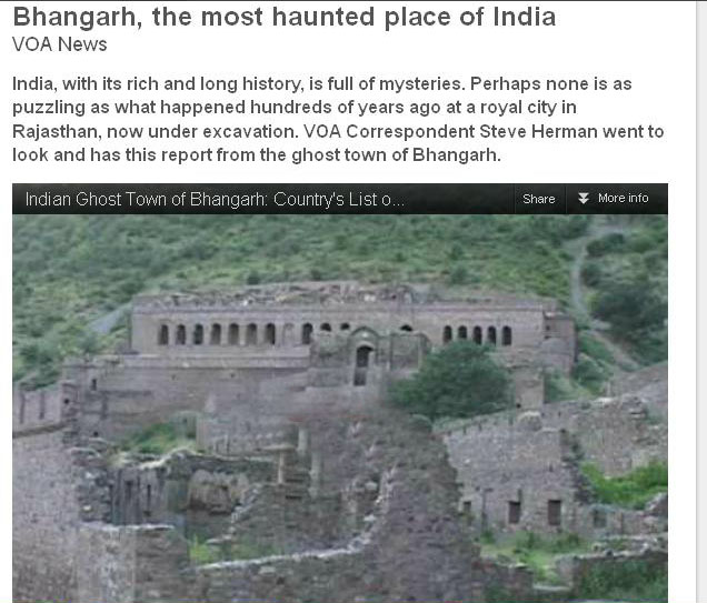 Info-Science : Most Haunted Place In India