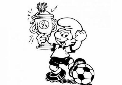 Transmissionpress Free Smurfs Champion Football Coloring