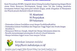 Lowongan Kerja BUMN PT. Indra Karya