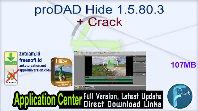 proDAD Hide 1.5.80.3 + Crack_ ZcTeam.id