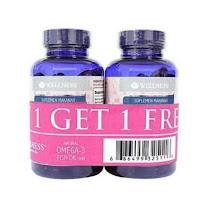 Buy 1 get 1 wellness fish oil isi 75 Omega 3 1000 mg Minyak ikan