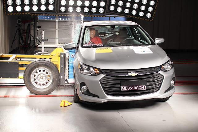 New Chevrolet Onix Plus 2020 obtém 5 estrelas no Latin NCAP