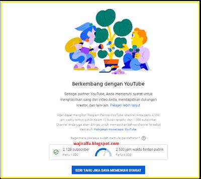 peninjauan, wacth time youtube, monetisasi