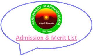 Panchakot College Merit List