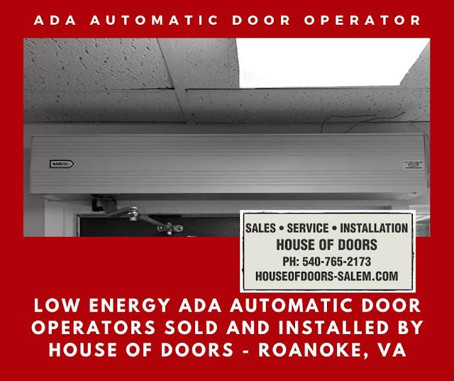 Low energy ada automatic door operators sold and installed by House of doors - Roanoke, VA