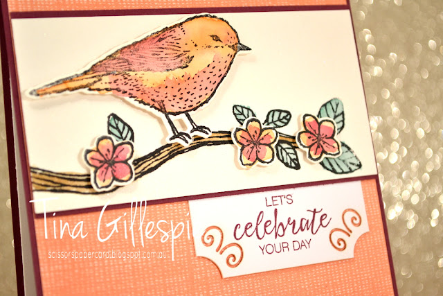 scissorspapercard, Stampin' Up!, Best Birds, Bunch Of Blossoms, Nature's Poem DSP, Birds & Blooms