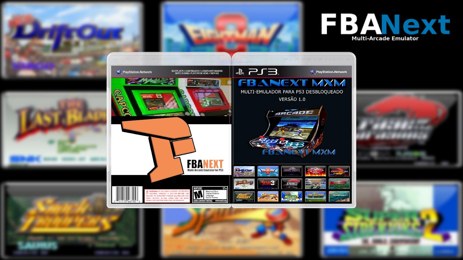 GAMES AND GAMERS: EMULADOR FBANEXT MXM 1 0 PS3 DOWNLOAD