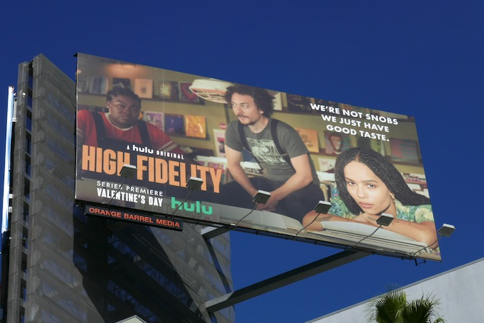 High Fidelity not snobs good taste billboard