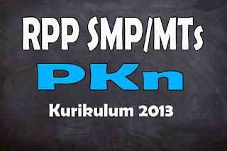 RPP 1 Lembar PKN SMP Kurikulum 2013