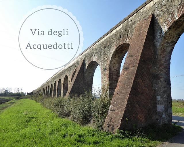 Via degli Acquedotti: acquedotto mediceo Asciano Pisa