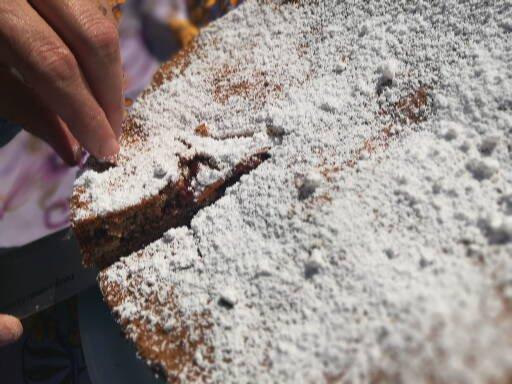 Ricetta Torta di grano saraceno con confettura di lamponi