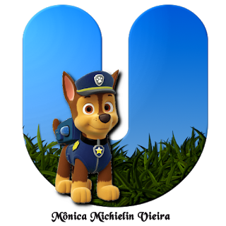 Letras con Chase de Paw Patrol. Chase Letters.