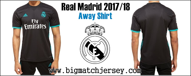 New Adidas Real Madrid 2017-18 Away Shirt