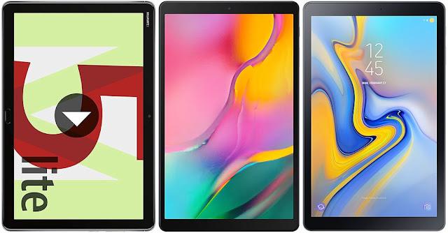 Huawei MediaPad M5 Lite 10 vs Samsung Galaxy Tab A 10.1 (2019) vs Samsung Galaxy Tab A 10.5 (2018)