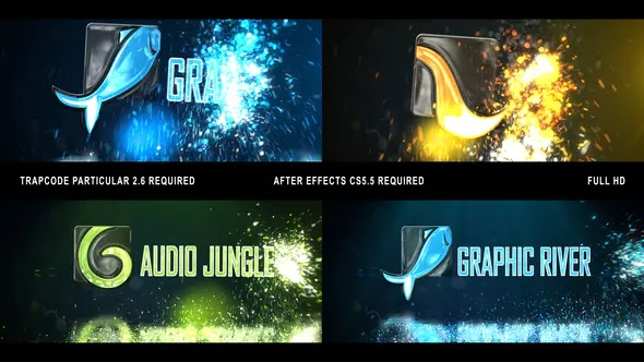 Videohive Glowing Particals Logo Reveal 32 24003431