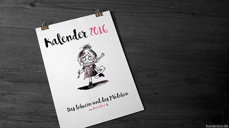 KuneCoco • Kalender 2016 zum selbst ausdrucken