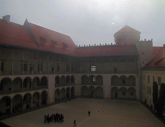 Arkadowy dziedziniec Zamku Królewskiego na Wawelu.