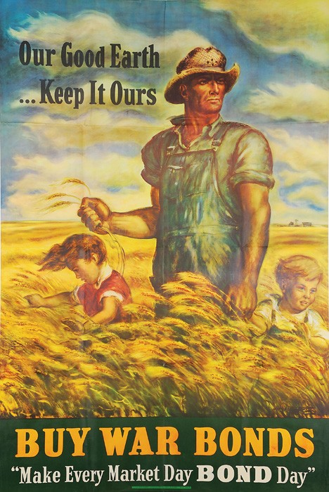 ... Ours, Buy War Bonds - Vintage poster image courtesy of Wikicommons Agricultural Adjustment Act Posters