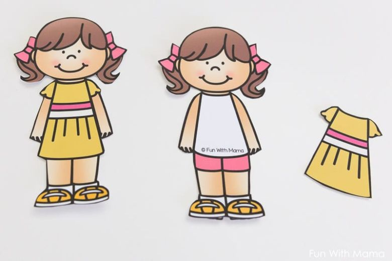 summer paper doll craft for kids