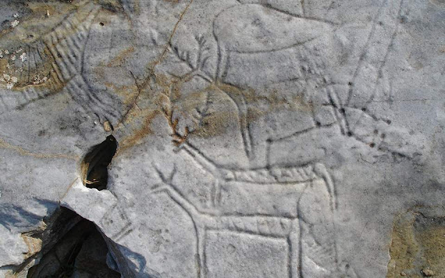 Ancient carvings in Northern Greece defaced