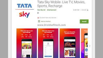 Download Tata Sky DTH app