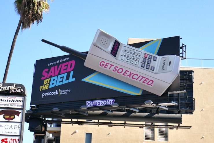 Saved by the Bell 90s cell phone billboard