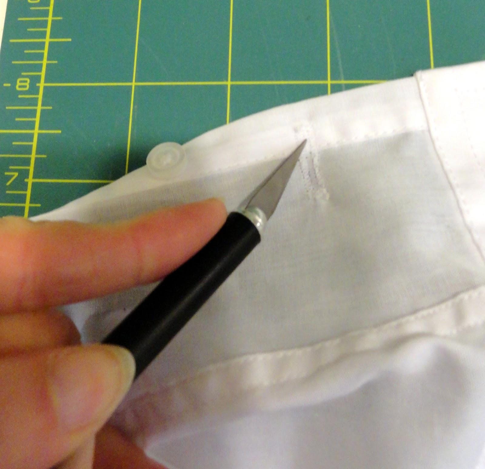 How to make a standard shirt cuff link ready