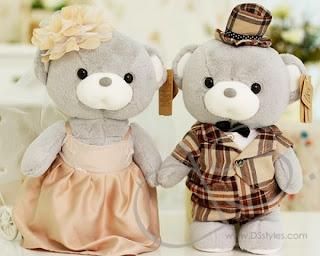 Boneka beruang love 14