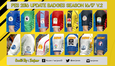 UPDATE BADGES SEASON 16/17 V.2