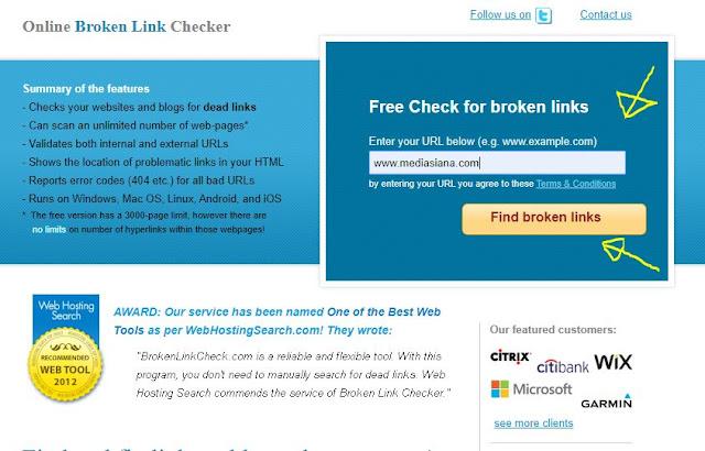 Cara Mengecek Broken Link di Blog Blogger
