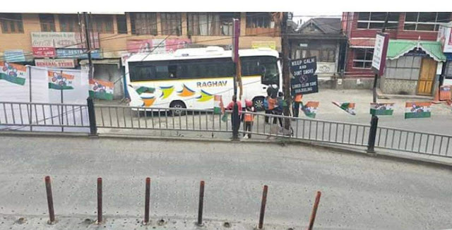 UP number bus in Darjeeling trigers panic