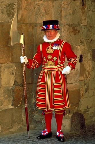 Tower Warder in uniform