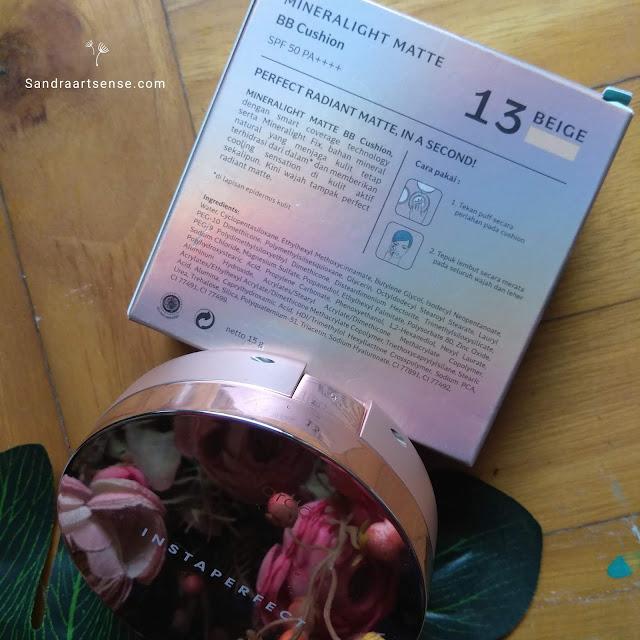 Review Wardah Instaperfect Mineralight Matte BB Cushion shade 13 Beige
