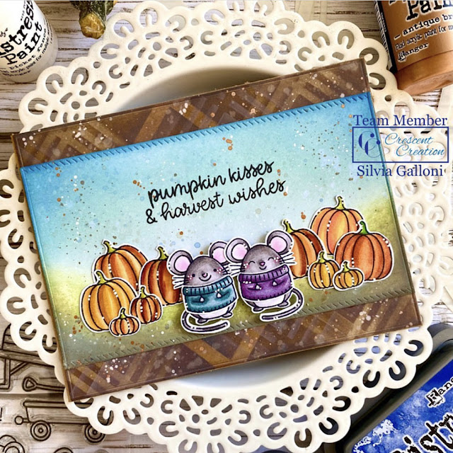 Sunny Studio Stamps: Harvest Mice Customer Card by Silvia Galloni