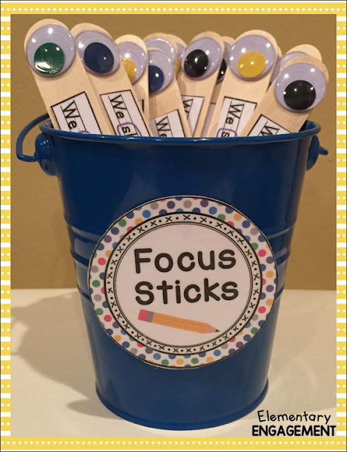 Focus sticks serve as a great visual guide for students during the editing process.