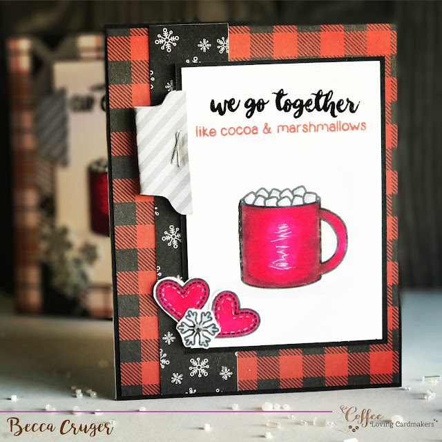 Sunny Studio Stamps: Mug Hugs card by Becca Cruger