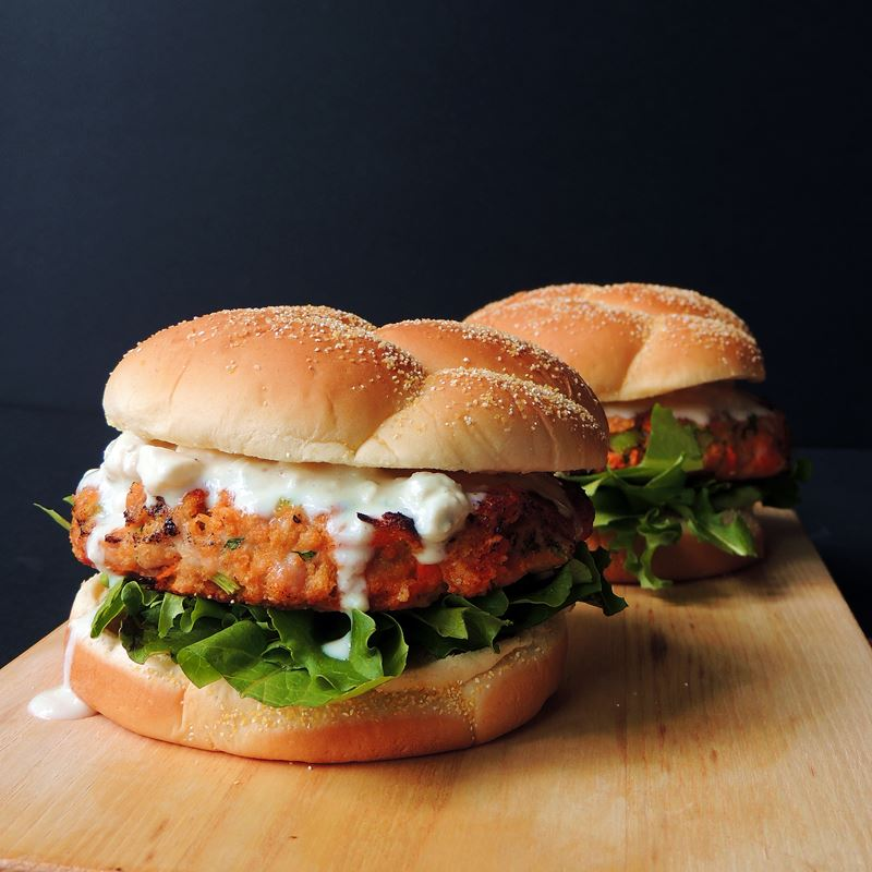 Buffalo Chicken Burger from www.bobbiskozykitchen.com